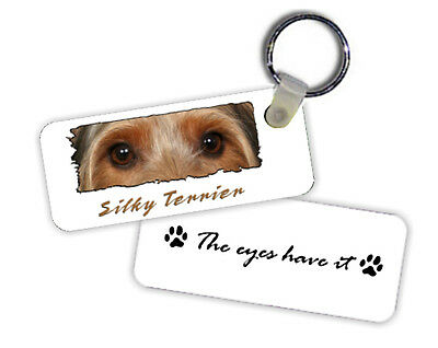 Silky  Terrier    The  Eyes Have It   Key  Chain
