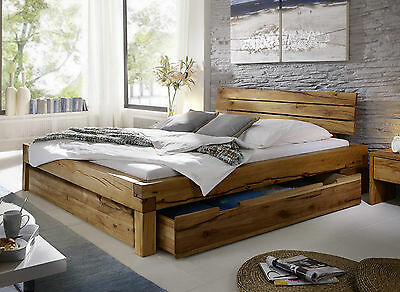 doppelbett bett eiche massiv 180 x 200 cm ninove. Black Bedroom Furniture Sets. Home Design Ideas