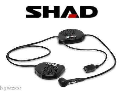 Kit mains libres bluetooth SHAD BC22 casque integral moto scooter GPS musique