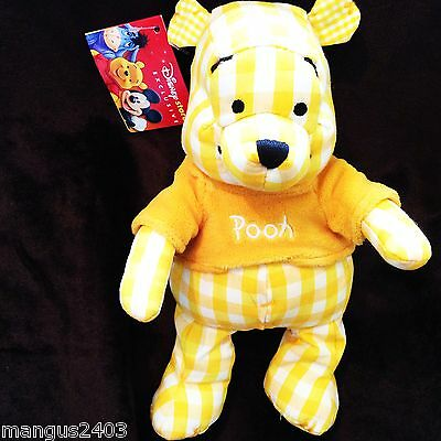 Bnwt Very Rare Vintage Disney Store Exclusive Yellow Ginham Winnie The Pooh