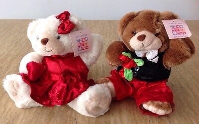 Valentine's Day Plush Teddy Bear Gift Set Stuffed Animal Red Hearts Roses