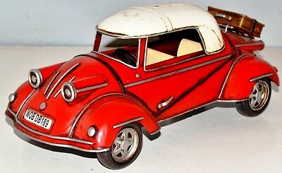Messerschmitt KR175 1955 Blechauto Blechmodell Tin Model Vintage Car 27 cm 37287