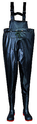 Chest Waders,Steel Safety Toe,Heavy Duty,Angling,Fishing,Food,Farm,Pressure Wash