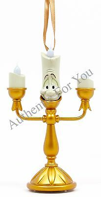 NEW Disney Parks LUMIERE from Beauty and the Beast LIGHT-UP Candlestick Ornament