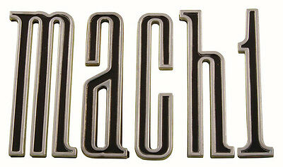 NEW 1970 FORD MUSTANG MACH 1 TRUNK LETTER SET (5) Die Cast Metal FORD Licensed