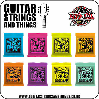 Ernie Ball NICKLE WOUND SLINKY Electric Guitar Strings - ALL GAUGES