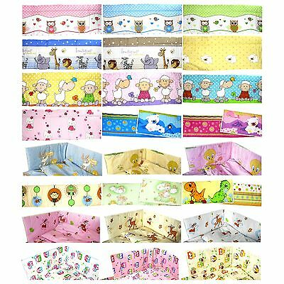 BUMPER long all round 360 420cm & short 210cm for baby Cot 120x60 Cot Bed 140x70