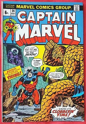 CAPTAIN MARVEL 26 Marvel 1973 1st Thanos Cover Jim Starlin Art