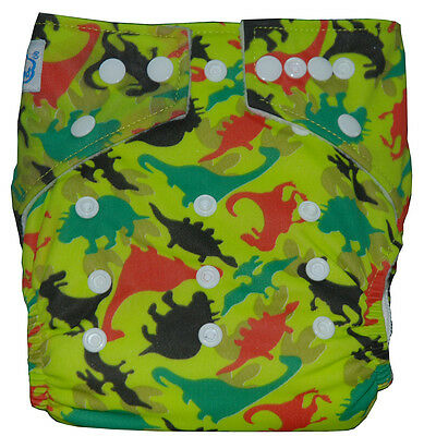 New Cute Baby Washable Pocket Cloth Diaper Nappy with 1 Inserts Liner