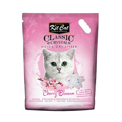 Kit Cat Litter Crystals - Cherry Blossom with Change Indicator 5 Litres / 2.4kg