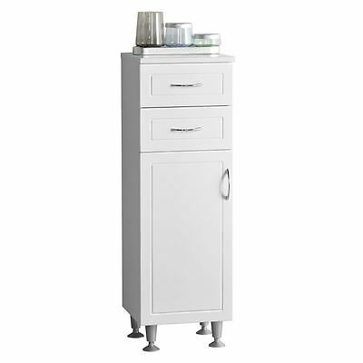 Aspen Cabinet, Floor Standing, MDF/White High Gloss PVC Finish