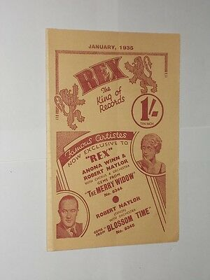 Rex The King Of Records. Fold Out Advertising Sheet January 1935.