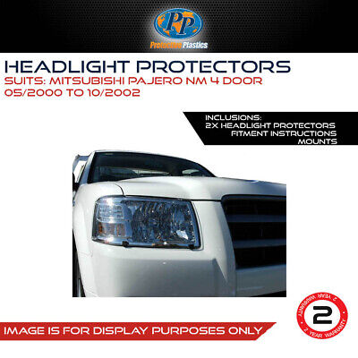 Headlight Protector To Suit Mitsubishi Pajero Nm/np 02-06  Lamp Covers Clear
