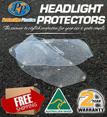 Headlight Protector To Nissan Patrol Gu 4 Y61 Wagon Only 04-On Lamp Covers Clear