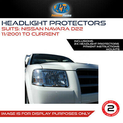 HEADLIGHT PROTECTOR TO SUIT  NISSAN NAVARA D22 01-ON LAMP COVERS CLEaR