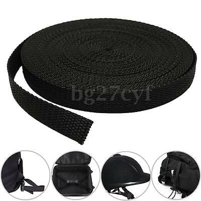 Black Nylon Fabric Webbing Tape For Making Strapping Belting Bag Strap 15mmx10m