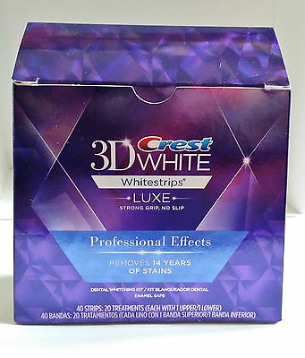Crest3D Professional Effects Bandes Blanches Blanchiment Dents 40 Strip USA