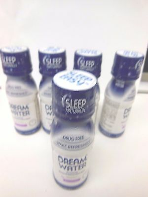 5 PACK Dream Water Snoozeberry Sleep Aid 2.5 oz. Natural Liquid Supplement