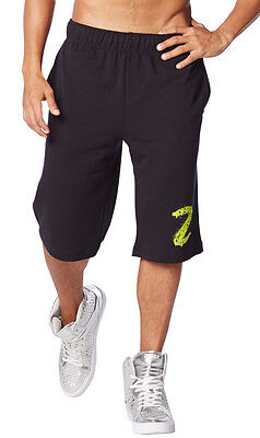 Zumba Men's Get Funked Up Shorts - Back to Black Z2B00111