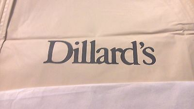 "Dillards Cream 66"" Gown Suit Dress Garment Storage Travel Bag-Free U.S. Shipping"