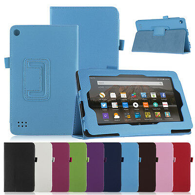 Amazon Fire 7 Leather Case Smart Stand Cover