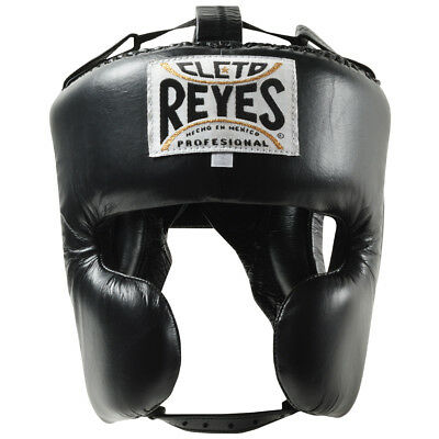 Cleto Reyes Classic Training Cheek Protection Boxing Headgear - Black