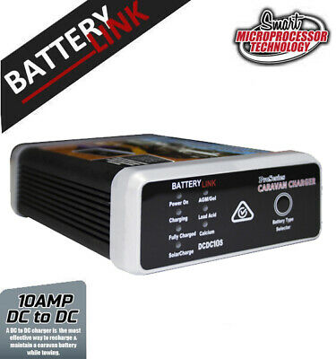 Battery Link Dc To Dc Smart Charger 10 Amp With Solar 12V Caravan Dual
