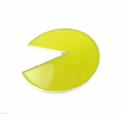 Yellow Pac-Man Arcade Video Game Metal Belt Buckle