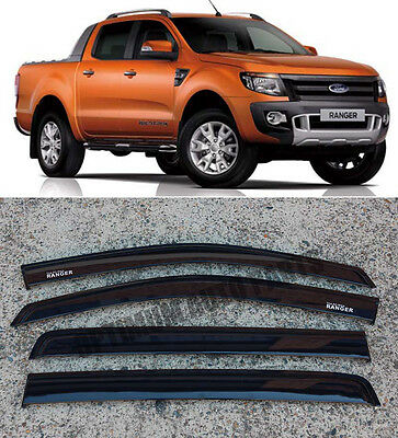 Injections Ford Ranger PX Weather Shield Weathershields WINDOW VISOR 2011-2017