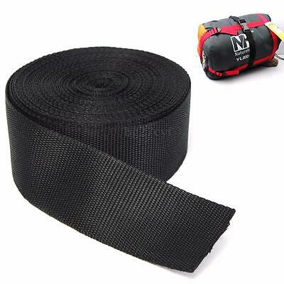 Black Nylon Fabric Webbing Tape For Making Strapping Belting Bag Strap 5cmx10m