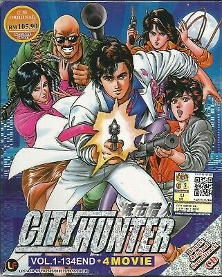 Anime DVD City Hunter Vol 1-134 End + Movies Complete Japan Animation New BoxSet