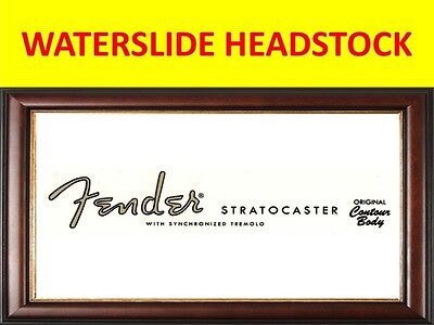 Waterslide Fende Stra 50's Pegatina Guitar Product On Sale Until End Of Stock