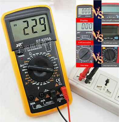 DT9205A AC/DC PROFESSIONAL Electric Digital Multimeter DMM with Buzzer