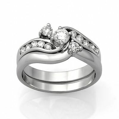 9ct White Gold Diamond Engagement Ring Set.