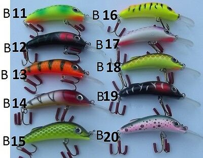 10 FSJ  BABY LURES  MURRY  COD,TROUT,YELLOW BELLY,BASS,REDFIN,  ramdon picked