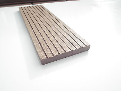Sample of Skirting for Decking  Wood Plastic Composite 12mm x 73mm Coffee WPC