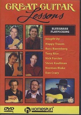 Great Guitar Lessons Bluegrass Flatpicking Tuition DVD Learn How To Play