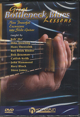 Great Bottleneck Blues Guitar Lessons Tuition DVD Slide Learn How To Play