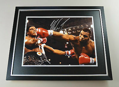 Mike Tyson Signed Photo Large Framed Boxing Memorabilia Autograph Display COA