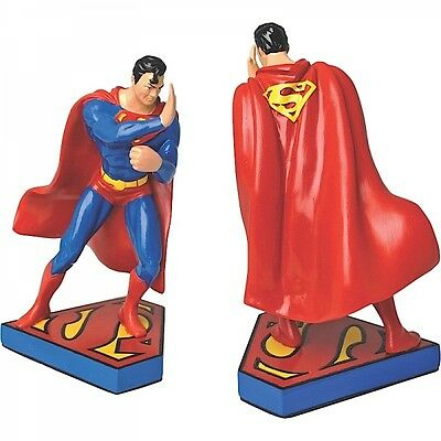Pair Of Superman Character Bookends Official Licensed DC Comics Justice League