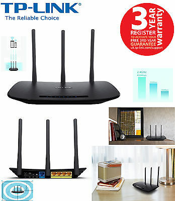 TP-LINK TL-WR940N 450 Mbps Wireless N Cable Router 4-Port High Speed UK