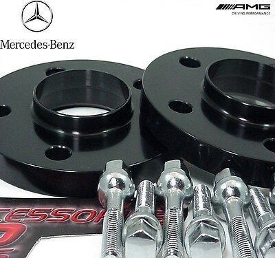 2 Pc BLACK ANODIZED MERCEDES C CLASS HUB CENTRIC WHEEL SPACERS 15mm MB5112-15B