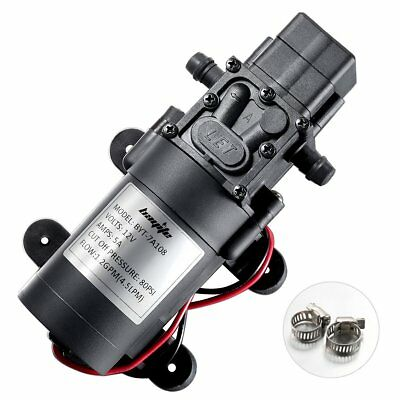 High Quality 4.5LPM 80PSI 12V Water Pump Self-Priming Diaphragm RV CARAVAN BOAT