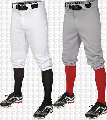 Easton Youth Boys Pro + Knicker Style Baseball Pants White or Grey A167104 S-XL