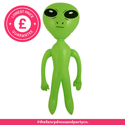 Inflatable Green Alien 64cm Party Space Ship UFO Accessory Dress Up Prop