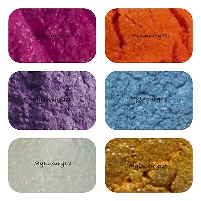 6 Sample MP Soap Bath making Glittering Micas Pigment Powder Shimmer colorants