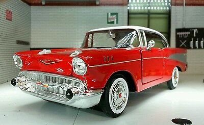 G LGB 1:24 Scale 1957 Chevrolet Chevy Bel Air Hard Top Motormax Model Car 73228