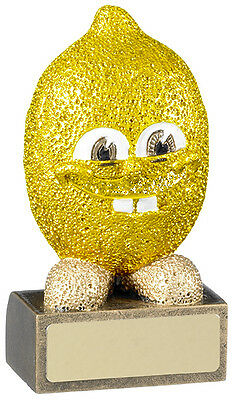 Comical Lemon Rugby Trophy Booby Prize Runner Up Award Free Engraving Rm561
