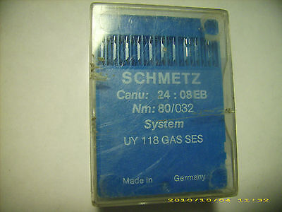 84 pc SCHMETZ sewing machine needles UY 118 GAS SES NM 80/032