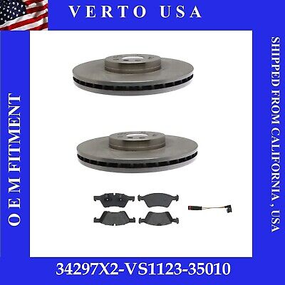 Verto USA Set Of 2 Front Disc Brake Rotors Mercedes Benz ML550 350MM /& Pads